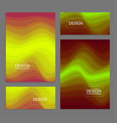 Set of book covers and banners vector