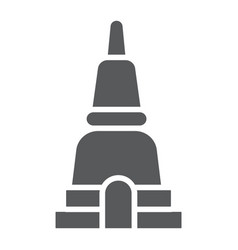 thai pagoda glyph icon asia and architecture vector image