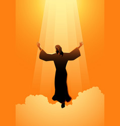 The ascension day jesus christ vector