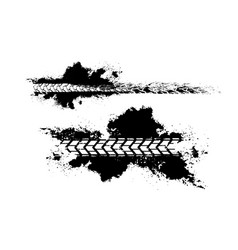 tire tracks print texture vector image