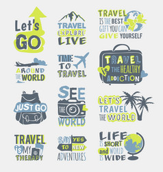 travel motivation badge logo vector image