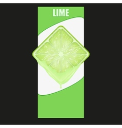 Vertical Banner of lime square slice Space for vector