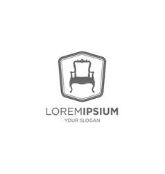 vintage upholestery emblem logo vector image