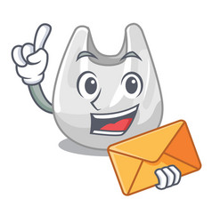 with envelope plastic bag character cartoon vector image