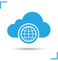 worldwide cloud storage icon vector image