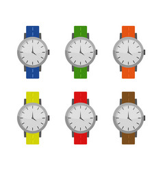 Wrist watch icon in on white background vector