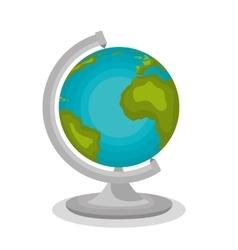 cartoon globe school icon design vector image