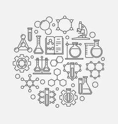 Chemistry lab round vector