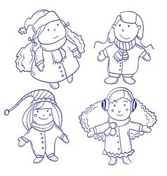 Cute happy children vector image vector image