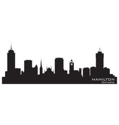 Hamilton Canada skyline Detailed silhouette vector image vector image