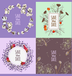 save the date 2x2 design concept vector image vector image