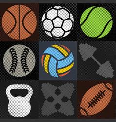 set sport background vector image vector image