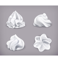 Whipped cream icon set vector image