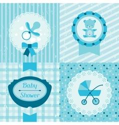 Boy baby shower invitation cards vector