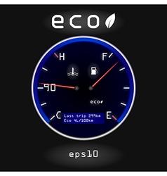 Dashboard temp fuel vector