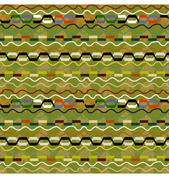 Ethnic seamless pattern with geometric elements vector image vector image