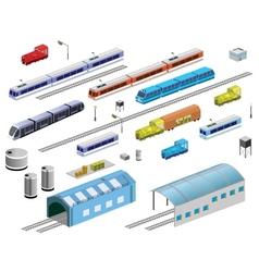 Railroad equipment vector image