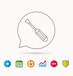Screwdriver icon repair or fix tool sign vector