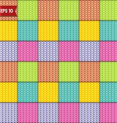 Simple knitted seamless pattern vector image vector image