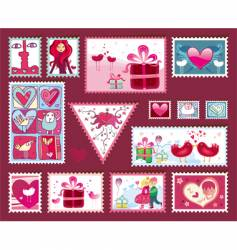 Valentine's design elements vector image vector image