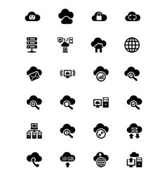 Cloud Computing Icons 2 vector image vector image