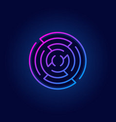 colorful round maze line icon vector image vector image