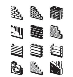 Construction materials for walls vector image