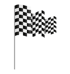 finish flag goal race vector image vector image