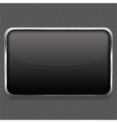 Frame on Metal Background vector image