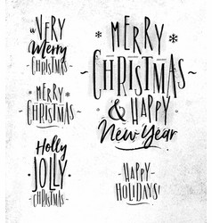 chrictmas lettering vector image vector image
