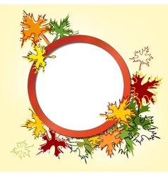 Colorful autumn leaves background llustration vector