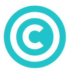 Copyright symbol sign flat icon vector