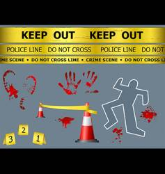 Crime scene objects vector