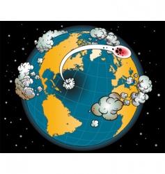 earth globe vector image