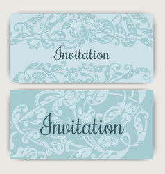 Invitation template vector