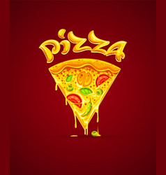 italian pizza with cheese vector image vector image