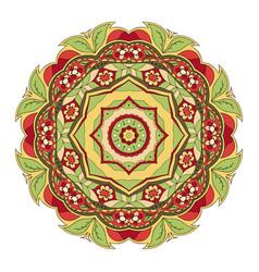 mandala round oriental pattern doodle drawing vector image
