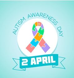 2 April Autism awareness day vector