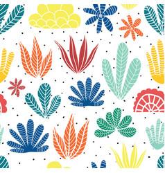 abstract succulent cactus desert plants summer vector image