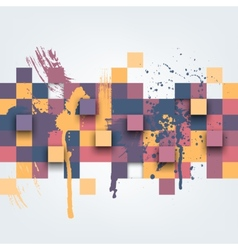 Abstract texture with colorful squares vector