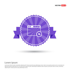 Add widget icon - purple ribbon banner vector