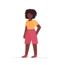 african american child little girl in casual vector image