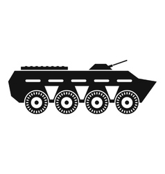 Army battle tank icon simple style vector