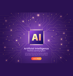 artificial intelligence ai chip on computer vector image