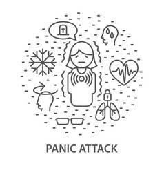 banners for panick attack vector image