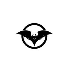 Bat logo template vector