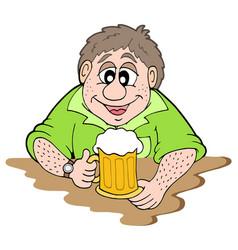 beer drinker vector image
