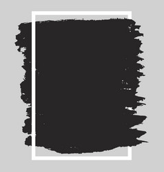 black rectangular isolated blot in a white frame vector image