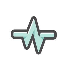 blue pulse line icon cartoon vector image