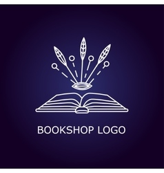 Book logo vector